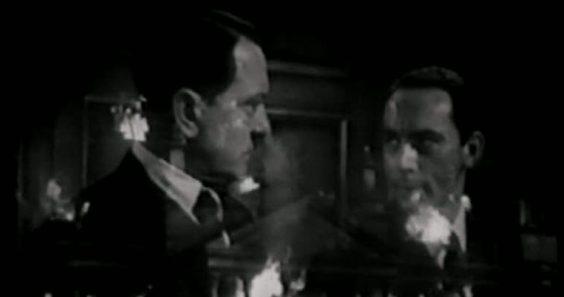 Hitler (Bobby Adams), Goebbels (Martin Kosleck), Reichstag (brennt).