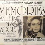 memories within miss aggie - das nur bescheiden plakative plakat