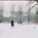 alleine im schnee