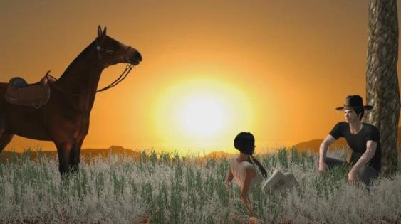 Gruppenbild mit Pferd