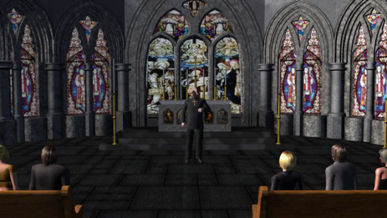 Bei der Predigt wird die Relevanz des Klingelbeutels hervorgehoben.