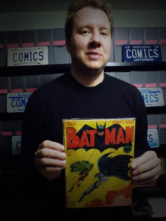 """""""Anfang des Jahres habe ich mit Comic-Legende Don Rosa in Kentucky gedreht. Seine Sammlung war unglaublich. Da wollte ich dann gern Batman Nr. 1 berühren."""""""
